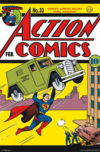 Action Comics #33 (Feb. 1941) Superman Classic Comic Book Cover Poster Reprint - Trends Int'l.