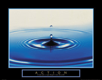 "Drop of Water ""Action"" Motivational Poster - Front Line"