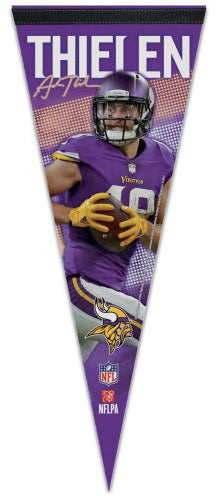 "Adam Thielen ""Signature Series"" Minnesota Vikings Premium Felt Collector's Pennant - Wincraft"