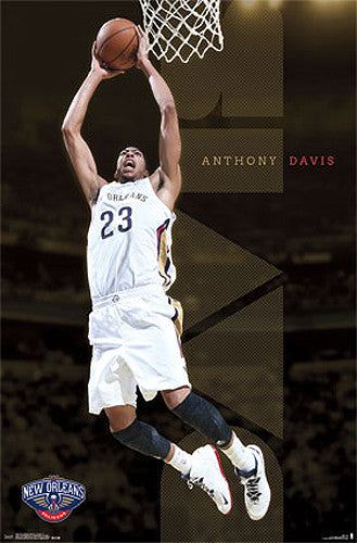 "Anthony Davis ""Rise Up"" New Orleans Pelicans NBA Basketball Action Poster - Trends International"