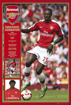 "Emmanuel Adebayor ""Profile"" Arsenal FC Poster - GB Eye 2008"