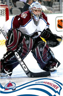 "David Aebischer ""Intensity"" Colorado Avalanche Poster - Costacos 2005"