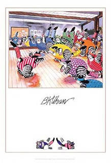 "Fitness Aerobics Cats ""Aerobicats"" by B. Kliban Poster - Pomegranate"