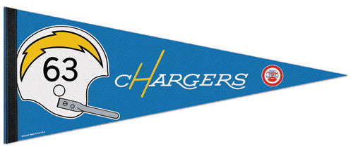 "San Diego Chargers ""AFL 50"" Commemorative Felt Pennant"