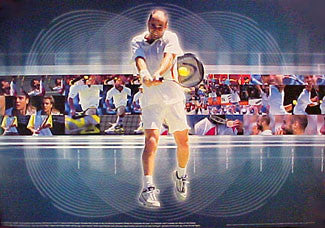 "Andre Agassi ""Decade of Glory"" Tennis Poster - Nike 2000"
