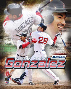 "Adrian Gonzalez ""Action-Packed"" - Photofile 16x20"