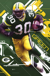 "Ahman Green ""Green Machine"" Green Bay Packers Poster - Costacos 2004"