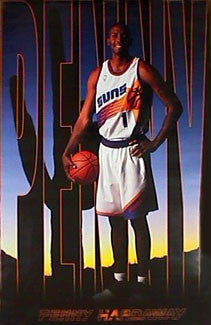 "Anfernee Hardaway ""Penny Sunshine"" Phoenix Suns NBA Poster - Costacos 2000"