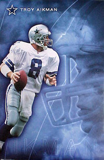"Troy Aikman ""Intensity"" Dallas Cowboys Poster - Costacos Sports 2000"