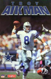 "Troy Aikman ""Scramble"" (1991) Dallas Cowboys Action Poster - Starline Inc."