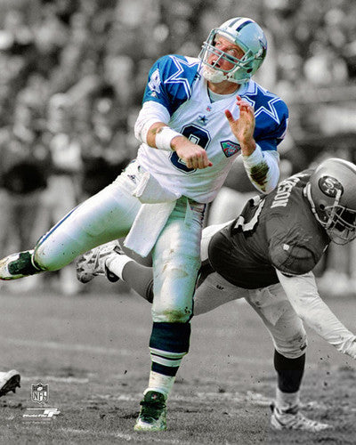 "Troy Aikman ""Spotlight"" (1994) Dallas Cowboys Premium Poster Print - Photofile Inc."