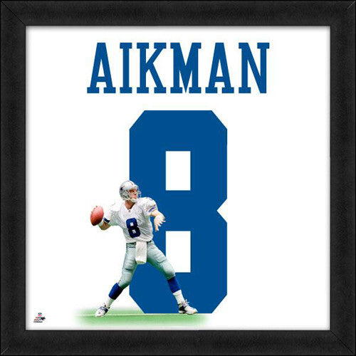 "Troy Aikman ""Number 8"" Dallas Cowboys NFL FRAMED 20x20 UNIFRAME PRINT - Photofile"