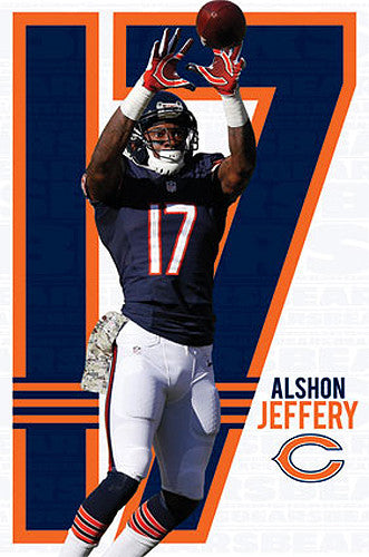 "Alshon Jeffery ""Haul it In"" Chicago Bears Official NFL Football Poster - Costacos 2014"