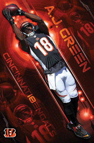 "A.J. Green ""Big-Time"" Cincinnati Bengals NFL Action Wall Poster - Trends International"