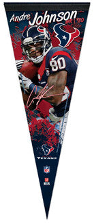 "Andre Johnson ""Signature Series"" Premium NFL Felt Collector's Pennant (2012) - Wincraft"
