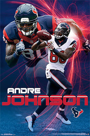 "Andre Johnson ""Lightning Strike"" Houston Texans Official NFL Poster - Costacos 2014"
