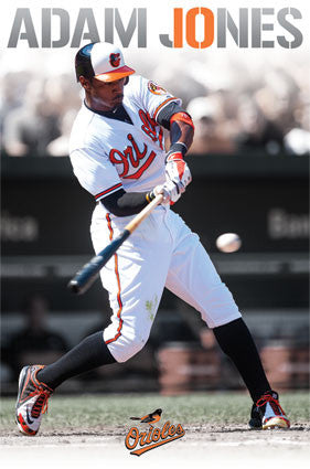 "Adam Jones ""Impact"" Baltimore Orioles MLB Action Poster - Costacos 2013"