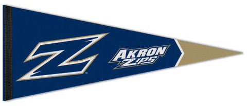 University of Akron Zips NCAA Team Logo Premium Felt Pennant - Wincraft Inc.