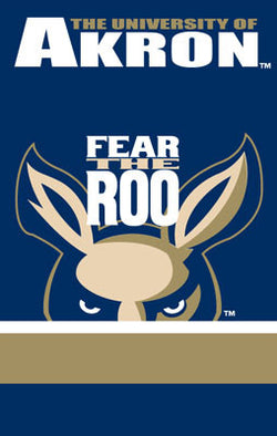"Akron Zips ""Fear the Roo"" Fabric Banner - Party Animal"