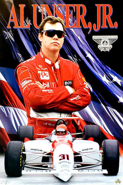 Al Unser Jr. Indy 500 Champion Series Racing Superstar Poster - Costacos Brothers 1994