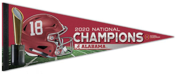 Alabama Crimson Tide 2020 NCAA Football National Champions Premium Felt Collector's Pennant - Wincraft Inc.