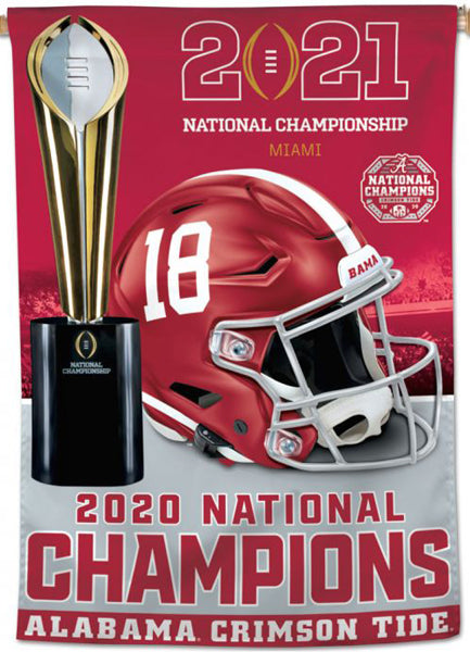 Alabama Crimson Tide 2020 NCAA Football Champions Official Wall BANNER Flag - Wincraft Inc.