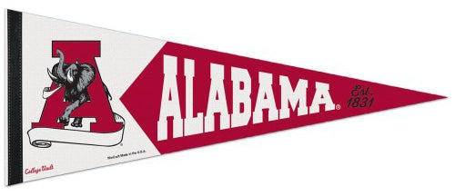 Alabama Crimson Tide NCAA College Vault 1970s-Style Premium Felt Collector's Pennant - Wincraft Inc.