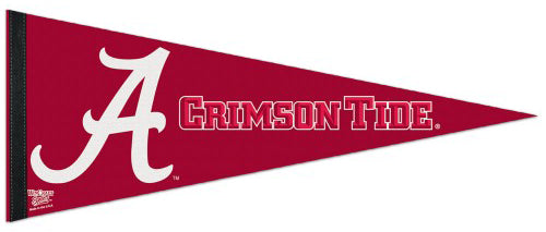 Alabama Crimson Tide NCAA Team Logo Premium Felt Collector's Pennant - Wincraft Inc.