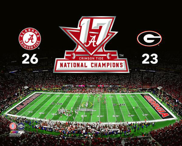 Alabama Crimson Tide 2017 NCAA National Football Champions Premium Poster Print - Photofile 16x20