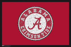 "Alabama Crimson Tide Fight Song ""Yea, Alabama!"" Logo Poster - LA Pop"