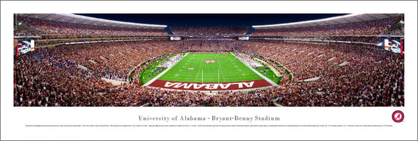Alabama Crimson Tide Bryant-Denny Stadium End Zone Panoramic Poster - Blakeway