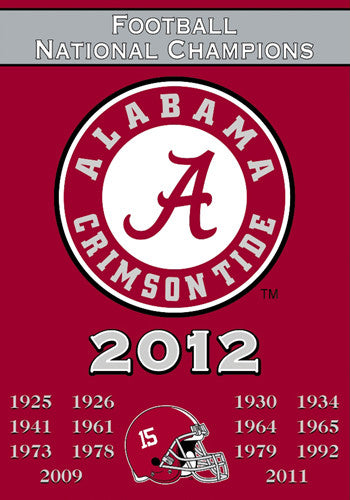 Alabama Crimson Tide 15-Time National Champions Commemorative Banner - BSI Products