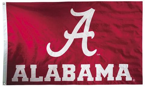 Alabama Crimson Tide Official NCAA Premium Nylon Applique 3'x5' Flag - BSI Products Inc.