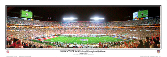 Alabama Crimson Tide BCS National Championship Game 2013 Panoramic Poster Print - E.I.