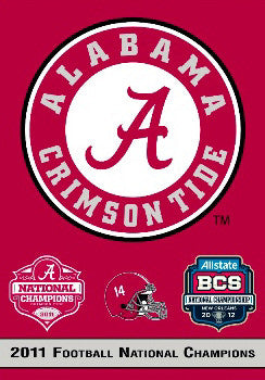 Alabama Crimson Tide 2011 National Champs Commemorative Banner