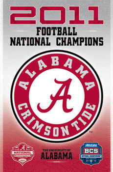 Alabama Crimson Tide 2011 NCAA Football National Champions Commemorative Poster