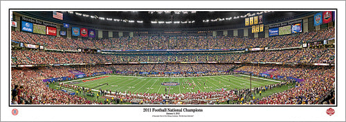 Alabama Crimson Tide Football 2011 BCS NCAA National Champions Panoramic Poster - Everlasting Images