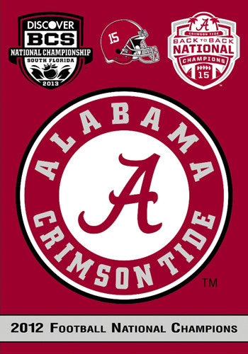 Alabama Crimson Tide 2012 National Champs Commemorative Banner (Back-to-Back!) - BSI