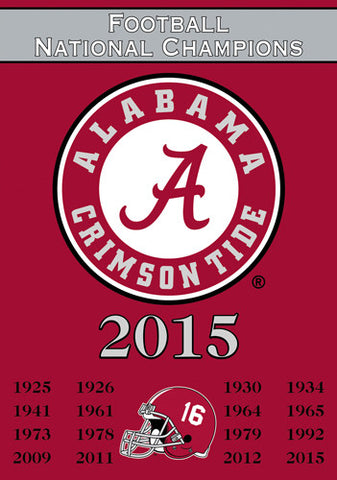 Alabama Crimson Tide 16-Time NCAA Football National Champions Commemorative Banner - BSI