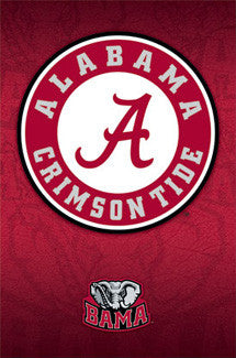 Alabama Crimson Tide Official NCAA Team Logo Poster - Costacos