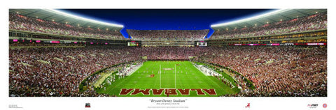 Bryant-Denny Stadium Alabama Football Game Night Panorama - USA Sports