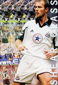 "Alan Shearer ""Shear Class"" Newcastle United Poster - UK 1999"