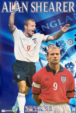 Alan Shearer Team England 2000 Football Superstar Poster - Starline 2000