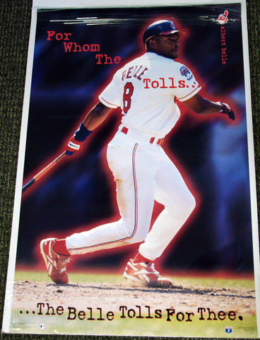 "Albert Belle ""For Whom The Belle Tolls"" Cleveland Indians Vintage Original Poster - Costacos Brothers 1996"