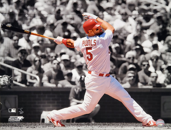 "Albert Pujols ""Spotlight"" (2010) St. Louis Cardinals MLB Action Poster Print - Photofile 16x20"