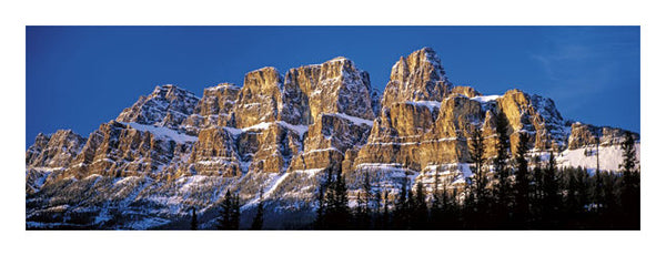 Castle Mountain, Alberta, Canada Panoramic Poster Print - Canadian Art Prints