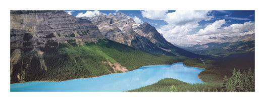 Peyto Lake, Alberta, Canada Panoramic Poster Print - Canadian Art Prints
