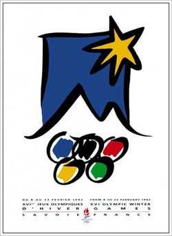 Albertville 1992 Winter Olympic Games Official Poster Reprint - Olympic Museum