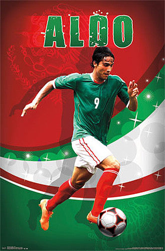 "Aldo de Nigris ""Brillo"" Mexico Futbol 2014 Soccer Action Poster - Costacos Sports"