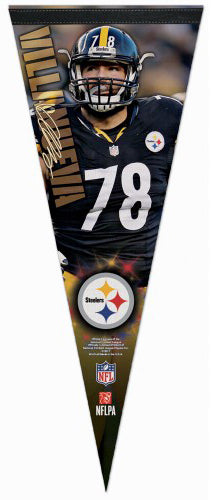 "Alejandro Villanueva ""Signature Series"" Pittsburgh Steelers Premium Felt Collector's PENNANT - Wincraft 2017"